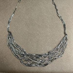 Sterling silver nest necklace